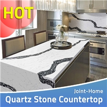 Quartz Stone Prefab Kitchen Desk Countertops