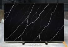 Artificial Quart Stone Bq8740 - Nero Marquina Quartz Stone Slabs