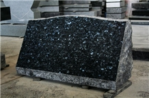 Blue Pearl Granite Polished Cemetery Slant Marker