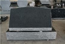 Dark Gray G654 Polished Cemetery Slant Marker Tomb
