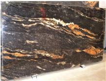 Prefab Granite Kitchen Countertops Gold Veins
