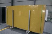 Yellow Quartz Solid Surface Slabs & Tiles