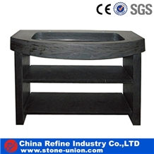 Black Easy Cleaning Marble Wash Tops & Vanity Tops