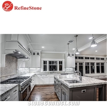 Brazil Snow White Granite Countertops, Bar Tops