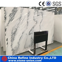 Chinese Ink Painting Style White Jade Marble Slabs
