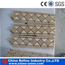 Superior Natural Stone Waterjet Marble Mosaic Tile