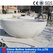 White Marble Hand Carved Sculptured Bathtubs