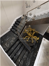 Black Beauty Marble Stairs Black Marble White