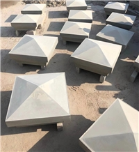Shandong Blue Stone Peaks, Shandong Blue Stone Pier Caps, Wall Coping