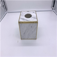 White Marble Tissue Box