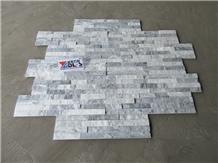 Alaska White Stacked Stone Wall Veneer Cladding