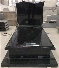 Angola Black Granite Gravestone Tombstone Monument