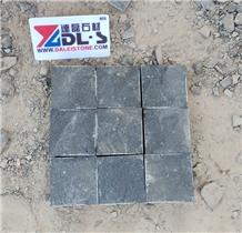 Black Basalt Cobbles Cubes Pavers Stone