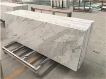 China White Marble Custom Vanity Bathroom Top Unit