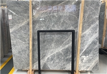 Light Grey Hermes Marble White Roots Veins