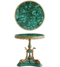 Agate Marble Slabs Stone Green Malachite Table