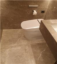 Floor Wall Beige Light Grey Marble Bathroom Tiles