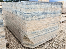 Blue Wave Travertine Blocks, Italy Travertine Blocks