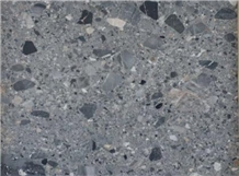 Natural Fossil Grey Marble Honed Floor Tiles