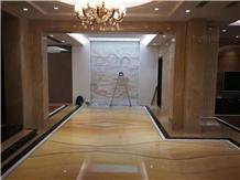 Yellow Onyx Polished Big Slabs & Flooring Tiles