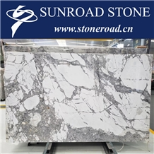 Invisible Grey Polished Marble Slabs Luxury Marble
