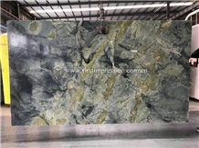 Pretty Peacock Dreaming Green Marble Slabs,Tiles