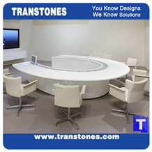 White Artificial Stone Marble Office Meeting Work