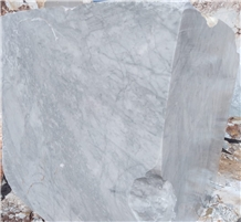 Turkish White Carrara Marble Blocks, Mugla White Cloudy Marble Block
