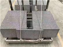 Honed Grey Terrazzo Cement Stone Stairs in Bullnose Edge
