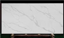 White Quartz Slabs for Kitchen Countertops