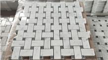 Bianco Carrara Marble Mosaic Bathroom Floor Tiles