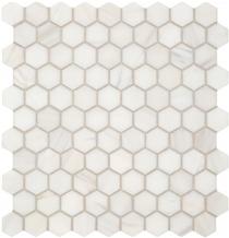Dolomite Marble Hexagon Floor Mosaic