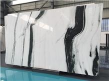 Panda White Marble Slabs Flooring Tiles from China
