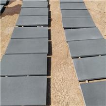 Black Honed Finish Basalt Flooring Tiles Stone