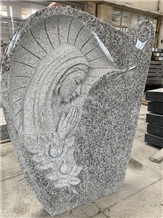 French Type Tombstone Granite Angel Monuments