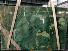 Harlequin Green Granite Slab
