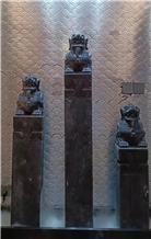 Antique Column Capitals Hotel Decorated Pilasters