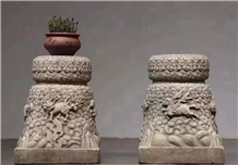 Stone Basic Pedestal Columns Decorated Pillars