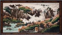 Landscape Scenery Of Mountain Streams Photo Glass