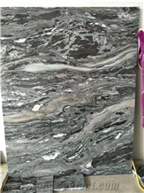 China Multicolor Gold Marble Slab Wall Floor Tile Bookmatch