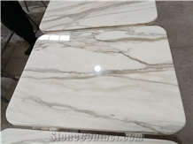 Calacatta Gold Natural Marble Stone Square Table Tops