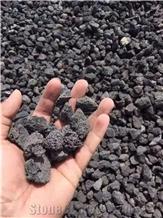 Black Lava Stone Pebbles Walkway
