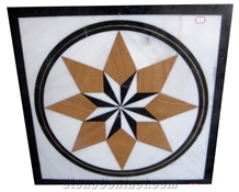 Composited Marble Waterjet Medallion