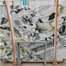 Primavera Green Cold Ice Jade Marble Slabs Tiles