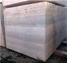 Roman Ocean Blue Travertine Blocks
