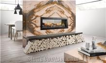 Calacatta Terra Marble Fireplace Surround
