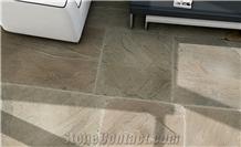 Farmcote Sandstone Flooring Tiles, India Green Sandstone