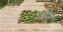Raj Green Sandstone Cobblestone, Pavers, Patio