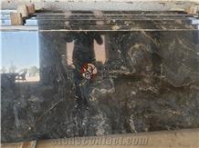 Alaska Black Granite Kitchen Countertops