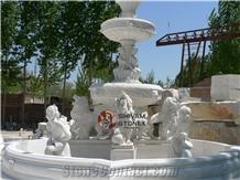 Rajnagar White Marble Garden Fountain